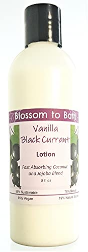 Vanilla Black Currant Lotion (8 ounce) - Natural Fragrance - Absorbs Quickly with a Sensuous Berry Scent