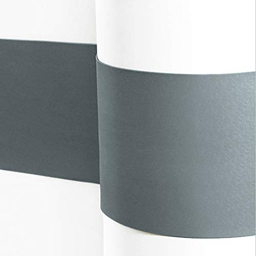 Sossai® Flexibler Wandschutz SERPENT Länge: 2 Meter | Höhe 160mm | Selbstklebend | Wandschutzfolie Kantenschutz Schmutzschutz Flurleiste Rammschutz | Farbe: Dunkelgrau