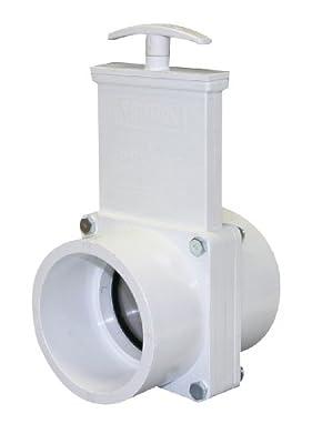 "Valterra 4301 PVC Gate Valve, White, 3"" Slip by Valterra Products"