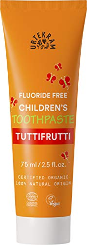 Urtekram Kinder Tutti-Frutti Zahnpasta Bio, ohne Flour, 2er Pack (2 x 75 ml)