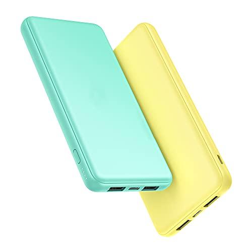 Portable Charger 2-Pack 10000mAh Power Bank High Capacity Power Bank Ultra Slim...