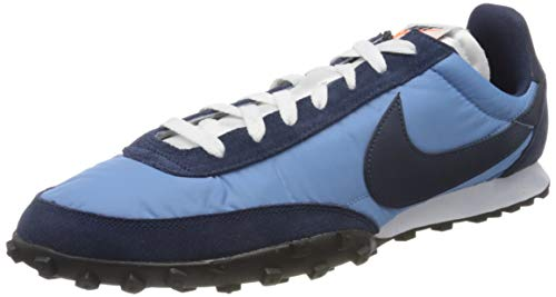 Nike Waffle Racer, Scarpe da Corsa Uomo, Light Blue/Midnight Navy-Midnight Navy, 42 EU