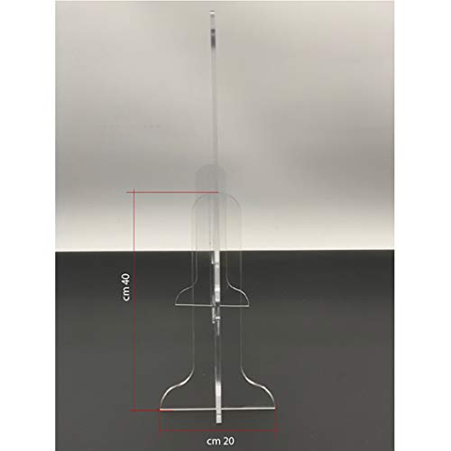 Protezione in plexiglass da banco anti droplet, parasputi e parafiato m