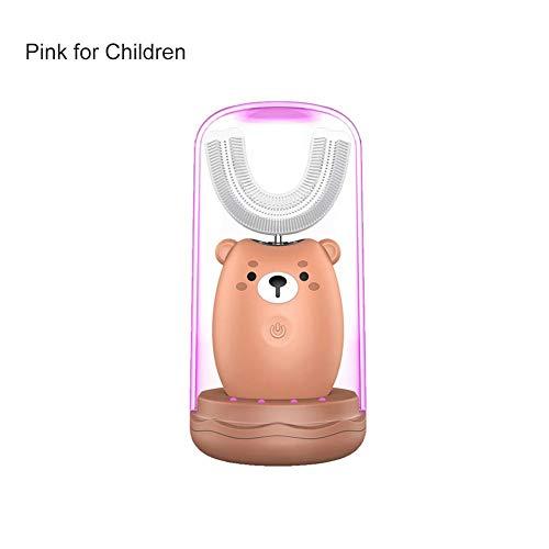 Brownrolly Draagbare intelligente U-vormige tandenborstel, automatische waterdichte schoonheidsinstrument voor kinderen, USB-elektrische tandenborstel