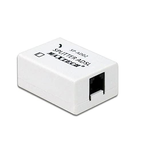 vetrineinrete Filtro adsl Splitter telefonico RJ11 con 3 ingressi Femmina sdoppiatore per Linea telefonica Internet Modem connessione Router C13