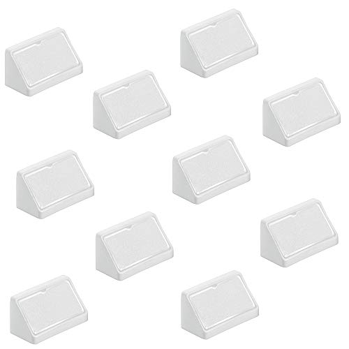 Gedotec Universal-Eckverbinder weiß Korpusverbinder aus | Möbelverbinder Kunststoff mit Abdeckkappe | Möbelbeschläge Breite 44 mm | 20 Stück - Schrankverbinder zum Schrauben