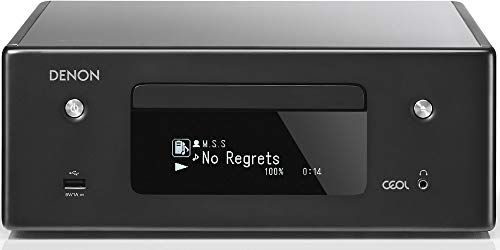 Denon RCD-N10 Hi-Fi All-in-One Receiver & CD Player | Perfect for Smaller Rooms and Houses | Wireless Music Streaming & Amazon Alexa Compatibility | Bluetooth, AirPlay 2, WiFi