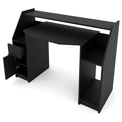 N/G Joel Computer - Mesa de ordenador de sobremesa (mesa de juegos, mesa de oficina), color negro