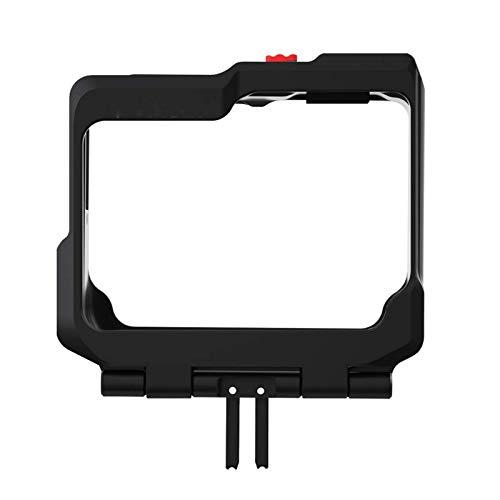 LJPzhp Jaula de cámara de vídeo de metal jaula para cámara con dos soportes para zapata fría marco protector Cace Vlog accesorios