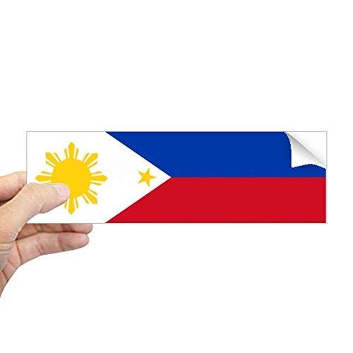 DIYthinker Filipijnen Nationale Vlag Azië Land Rechthoek Bumper Sticker Notebook Window Decal