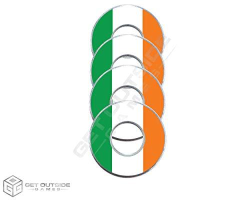 Get Outside Games 4 Irish Flag VVashers - Washer Toss Washer Board Game Washers (4 VVashers with Washer Locker)
