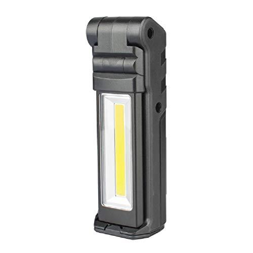 Sweo COB lámpara de trabajo recargable USB lámpara de trabajo con base magnética y gancho ajustable linterna COB excelente luz comprobar omeril sensor de movimiento luz 4 paquete