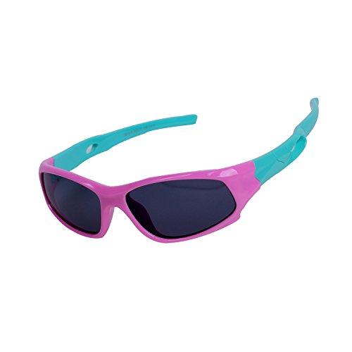 Qixuan Kinder Sonnenbrille TR90 Polarisierte Sportbrille für Jungen und Mädchen Alter 3-12, Rahmen Flexiblem Gumm,100{fb9db7a346506a2ed0f2ca29e68e80bb2bc76377b249d0e17e26ce49935e0043} UV-Schutz, mit Etui