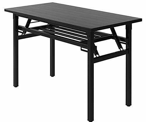LJFYXZ Mesa de Ordenador con estante Mobiliario de oficina en casa Escritorio de estudio con patas ajustables 120 x 60 x 74 cm Sin Ensamblaje para trabajo en casa, estudio y oficina en ca(Color:Negro)