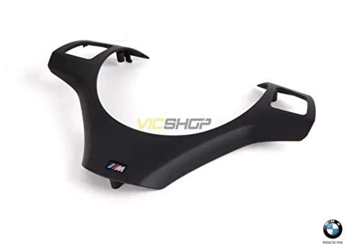 Moldura/Cubierta ///M color negro para volante multifunción E81 E82 E87 E88 E90 E91 E92 E93.