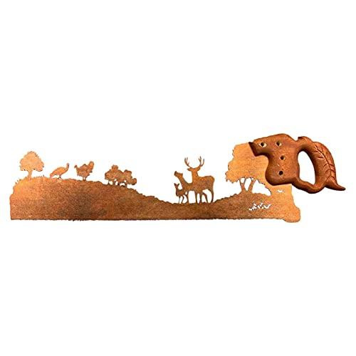 Sierra de mano de metal, arte de metal, sierra artesanal, innovadora, decoración de pared, decoración de jardín