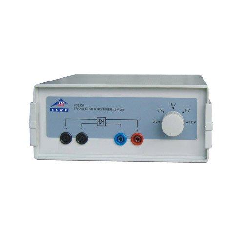 3B Scientific U33300-230 transformator met gelijkrichter, 3 V/6 V/9 V/12 V, 3 amp, 230 V, 50 Hz/60 Hz