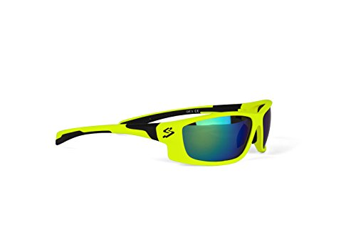 Spiuk Spicy - Gafas de Ciclismo Unisex, Color Amarillo Mate/Negro