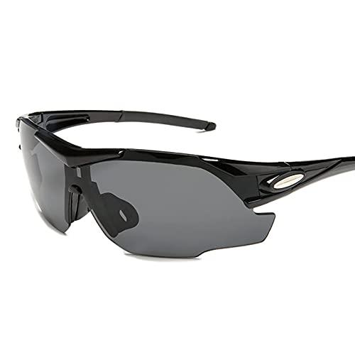 HGJINFANF Gafas de Montar en Bicicleta, Gafas de Sol polarizadas, Bicicletas y Motocicletas de montaña de Hombres y Mujeres