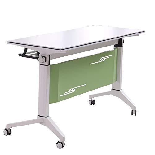 QYT-Mesa Plegable 700x500x750cm Mesa de Ordenador Escritorio de Oficina Mesa de Estudio Puesto de Trabajo Mesas de Recepción Mesa de Formación,A