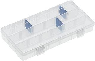 Flambeau 3003 Tuff Tainer See-Through Storage Box,  9.125 L x 5 W x 1.25 D,   9 Zerust Dividers