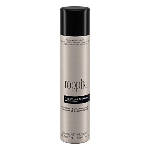 Toppik Colored Hair Thickener, Black, 5.1 oz
