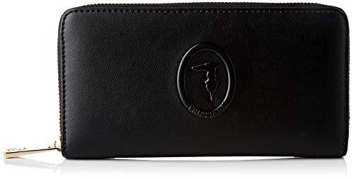 Trussardi Jeans Around, LISBONA Zip 3 Pocket LG Wallet Donna, Black, NR