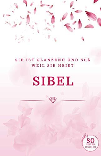 Sibel: Blumenhülle für Mädchen   Notizbuch für Schulaktivitäten und Notizen   Frauengeschenk   A5 13,97 x 21,59 cm   80 Seiten Quadratisches