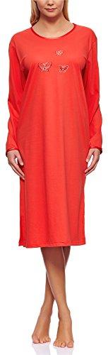 Merry Style Damen Langarm Nachthemd 91LW1 (Coral (Langarm), 40 (Herstellergröße: L))