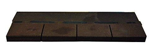 Bitumenschindeln Dachschindeln Rechteck Schindel Dachpappe Bitumen braun 2,32 m²