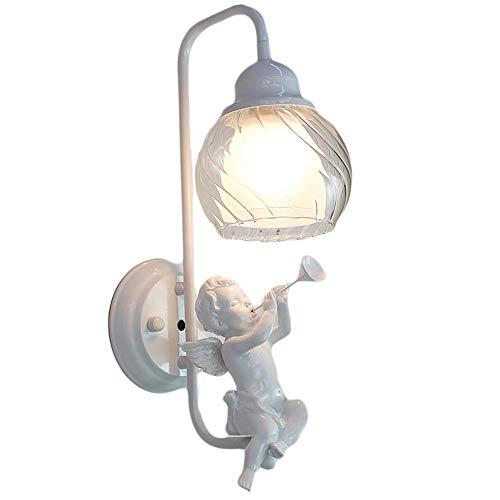 Slaapkamer Armaturen Iron Glazen wandlamp Nordic Industrial Design Hars verlichtingsarmatuur Woonkamer Slaapkamer Restaurant Balcony Single Head Muur Light E27 (zonder Bulb) W Wandlamp Verlichting