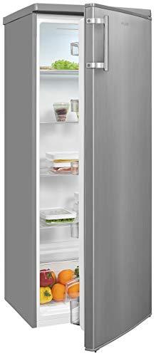 Exquisit Kühlschrank KS325-V-H-040E inoxlook   Standgerät   240 l Volumen   Inoxlook