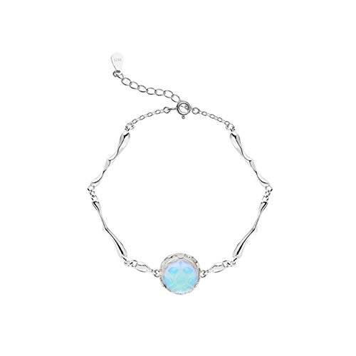 LWSHOP LYRStore886 Prevent Allergies 925 Sterling Silver Opal Round Beads Charm Bracelet Elegant Female Fashion Jewelry Accessories Exquisite workmanship