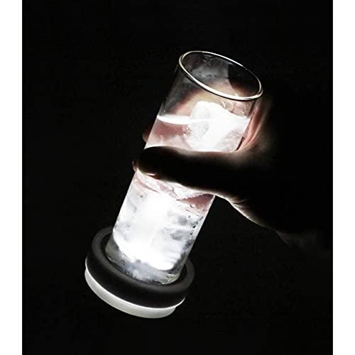 Criquet – Calzavasos con Luz Led – Posavasos Originales para Casa Y Hostelería – Ajustables A Recipientes con Diámetro 48 A 54 Mm – 2 Unidades