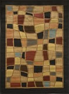Clearance Home Dynamix Catalina Hillsby Modern Area Rug, Geometric Black/Brown/Red/Blue 7'10