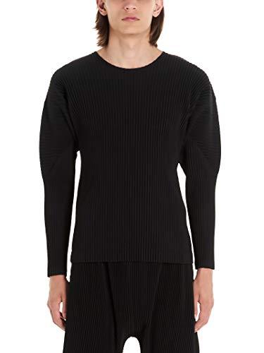 HOMME PLISSÉ ISSEY MIYAKE Luxury Fashion Mens T-Shirt Winter Black