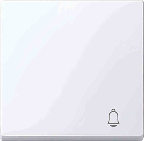 Merten MEG3305-0325 wip met kenmerk bel, actief wit glanzend, systeem M