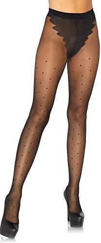Leg Avenue dames panty in Franse stijl met stippen zwart 20 DEN eenheidsmaat ca. 36 tot 40