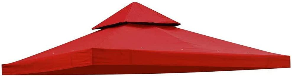 8' x Square Red Polyester Gazebo Repla 2021 model Top Tier Canopy Double Ranking TOP6