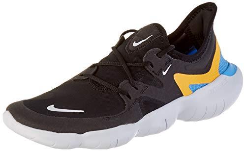 Nike Men's Free RN 5.0 Running Shoe, Black White Univ Blue, 6 UK