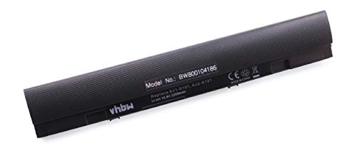 vhbw Li-Ion Akku 2200mAh (10.8V) schwarz passend für Notebook Asus Eee PC X101, Eee PC X101C, Eee PC X101CH, Eee PC X101H wie 0B20-013K0AS, A31-X101.