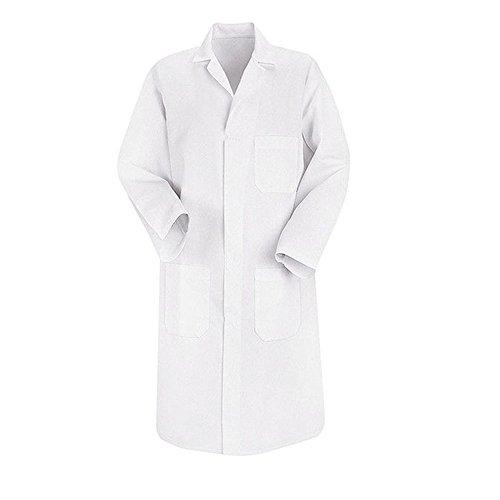 Blouse chimie blanche 100% coton laboratoire unisexe manches longues adulte/étudiant scolaire - Blanc - Taille 46-48 (M)