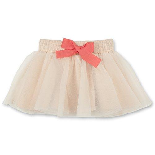 Pinokio Pikolina - Falda de bebé para niña, 100% algodón, rosa o beige, con lazo, falda para...