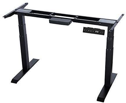 Forfar Electric Stehpultrahmen Stand-Up-Schreibtischrahmen Workstation Höhenverstellbare Breite Büro-Stehtisch mit Memory Preset-Tastensteuerung, Doppelmotor, motorisierter Tisch (nur Rahmen)
