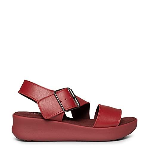 Trendy Sandalias de Mujer con cuña y Plataforma Rojas