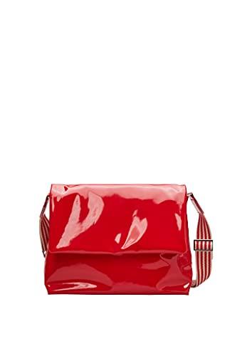 s.Oliver Damen City Bag in Lackleder-Optik red 1