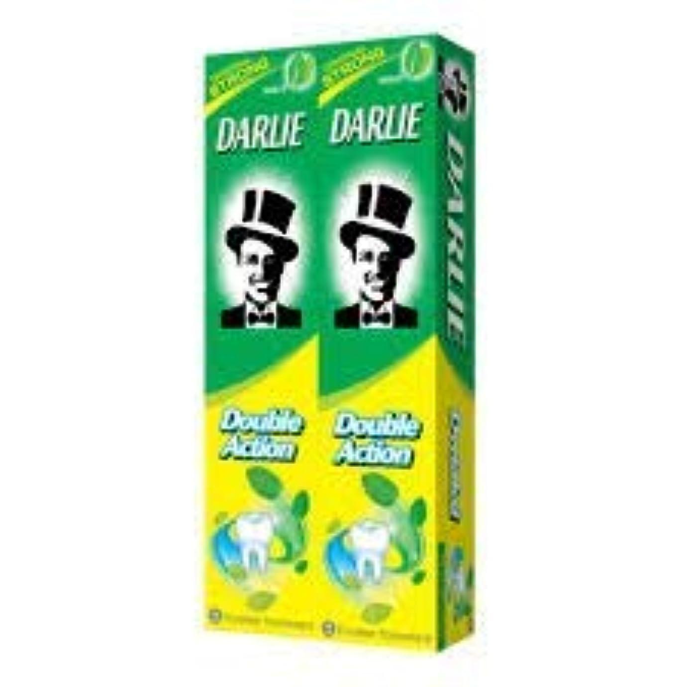 かき混ぜる大量ペーストDARLIE 歯磨き粉2×225gの複動GWPは、より永続的な新鮮な息12時間-gives - 口腔細菌を減少させるのに有効