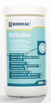 GS1 Zodiac Multichlor 1Kg 5pastiglie da 200g stabilizzatore del Cloro, del PH, Alghicida, flocculante in Continua