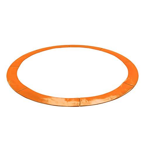 KAIA SPORTS - Cojín de protección universal Deluxe para cama elástica de 185 cm de diámetro, 244 cm de diámetro, 305 cm de diámetro, 366 cm de diámetro, 400 cm de diámetro, 424 cm de diámetro, resistente y anti UV, naranja, 6FT - 185CM