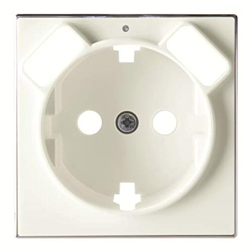 Placa de cubierta para toma de corriente Schuko, 5,4 x 1,5 x 5,4 centímetros, color blanco (referencia: 8588.3 BL)